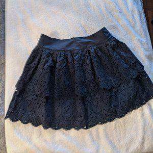 Banana Republic Tiered Eyelet Mini-Skirt